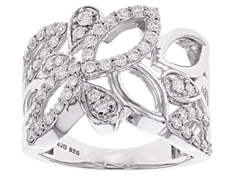 Moissanite Fire® 1.06ctw Diamond Equivalent Weight Round Platineve™ Ring