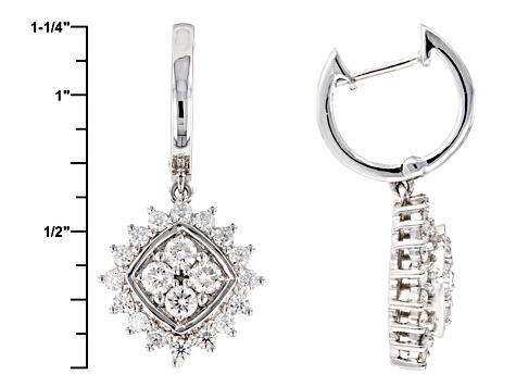 Moissanite Platineve Earrings 1.76ctw D.E.W