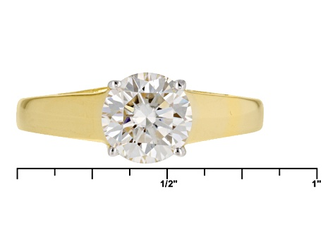 Moissanite 14k Yellow Gold Over Sterling Silver Ring 1.50ct D.E.W