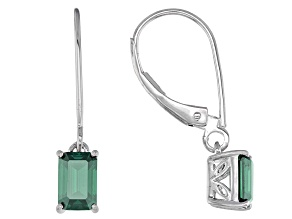Green Moissanite Platineve Earrings 1.16ctw D.E.W