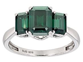 Green Moissanite Platineve Ring 2.91ctw D.E.W
