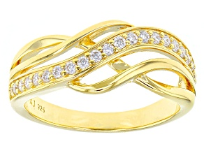Moissanite 14k Yellow Gold Over Sterling Silver Ring .42ctw DEW