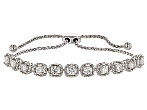 Moissanite Adjustable Bracelet Platineve™ 2.42ctw DEW