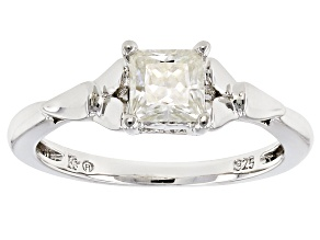 Moissanite Platineve Ring .80ct D.E.W