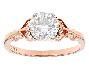 Moissanite 14k Rose Gold Over Silver Ring 1.20ct DEW
