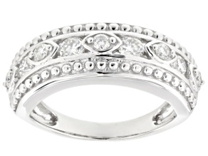Moissanite Fire® .72ctw Diamond Equivalent Weight Round Platineve™ Ring.