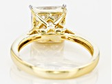 Moissanite 14k Yellow Gold Over Silver Ring 3.10ct DEW