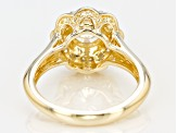 Moissanite 14k Yellow Gold Over Silver Ring 1.48ctw DEW
