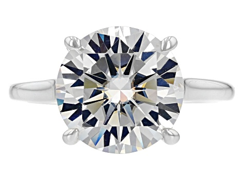 Moissanite Fire® 5 37ctw DEW Platineve® And 14k Yellow Gold Two Tone Ring