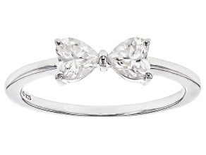 Moissanite Fire® .68ctw DEW Heart Shape Platineve™ Ring