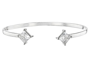 Moissanite Fire® 3.60ctw Diamond Equivalent Weight Princess Cut Platineve™ Bracelet