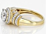 Moissanite 14k Yellow Gold Over Silver Ring 2.54ctw DEW