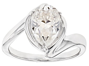 Moissanite Platineve Ring 2.40ct D.E.W