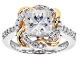 Moissanite Platineve And 14k Yellow Gold Over Platineve Ring 2.82ctw DEW