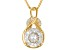 Moissanite Fire® 1.55ctw DEW Round 14k Yellow Gold Over Silver Pendant With Chain