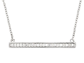 Moissanite Platineve Necklace .22ctw D.E.W