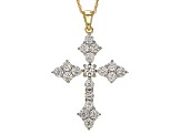 Moissanite 14k Yellow Gold Over Silver Pendant 2.02ctw DEW