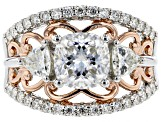 Moissanite Two Tone Ring 3.28ctw DEW.