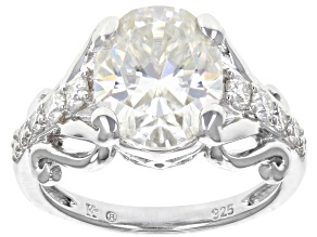 Moissanite Platineve Ring 4.60ctw DEW