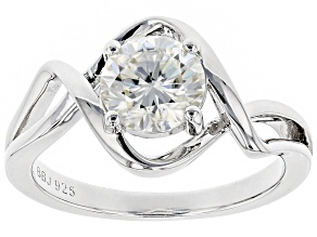Moissanite Platineve Ring 1.20ct D.E.W