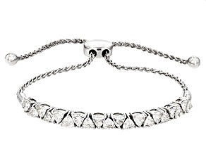 Moissanite Platineve Adjustable Bracelet 2.80ctw DEW