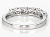 Moissanite Fire® .81ctw Diamond Equivalent Weight Trillion Cut Platineve® Ring