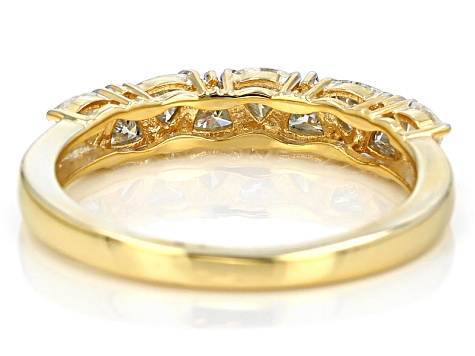 Moissanite 14k Yellow Gold Over Silver Ring .81ctw DEW