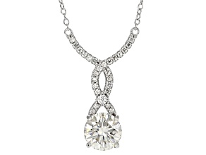 Moissanite Platineve Necklace 2.19ctw D.E.W