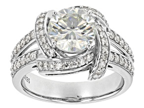 Moissanite Platineve Ring 2.74ctw DEW.