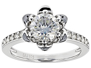 Moissanite Platineve Ring 1.40ctw DEW.
