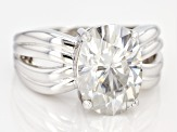 Moissanite Platineve Ring 7.22ct DEW.