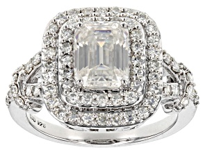 Moissanite Platineve Ring 2.43ctw DEW