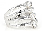 Moissanite Platineve™ Ring .82ctw DEW
