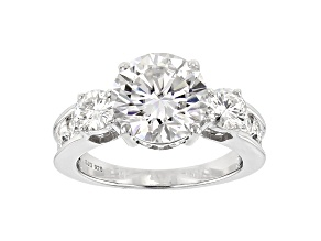 Moissanite Platineve Ring 4.66ctw DEW