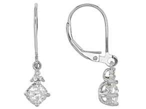 Moissanite Platineve™ Earrings 1.06ctw DEW