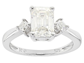 Moissanite Platineve Ring 1.95ctw DEW