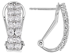 Moissanite Platineve™ Earrings 1.68ctw DEW