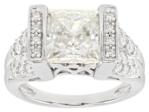 Moissanite Platineve Ring 4.86ctw DEW