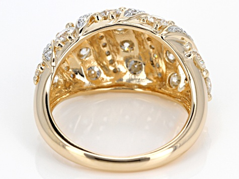 Moissanite 14k Yellow Gold Over Silver Ring 2.56ctw DEW