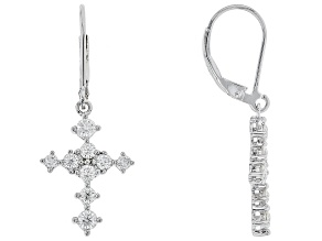 Moissanite Platineve Earrings 1.16ctw DEW