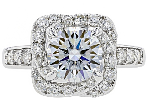 Moissanite Platineve Ring 2.68ctw DEW