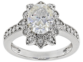Moissanite Platineve Ring 2.42ctw DEW.