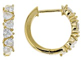 Moissanite 14k Yellow Gold Over Silver Earring 1.68ctw DEW