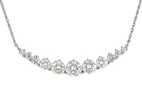 Moissanite Platineve™ necklace 8.00ctw DEW