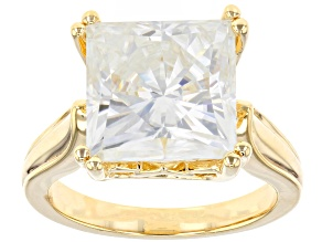 Moissanite 14k Yellow Gold Over Sterling Silver Ring 8 25ct Dew