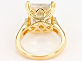 Moissanite 14k Yellow Gold Over Sterling Silver Ring 8.25ct DEW