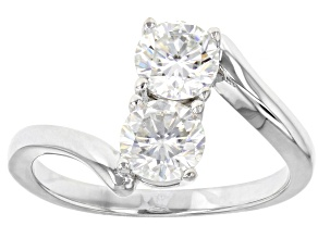 Moissanite Platineve Ring 1.20ctw DEW.