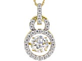 Moissanite 14K Yellow Gold over Silver Pendant 2.68ctw DEW.