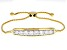 Moissanite 14k Yellow Gold Over Silver Bolo Bracelet 2.10ctw DEW.