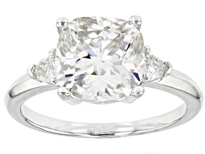 Moissanite Platineve Ring 3.48ctw DEW.
